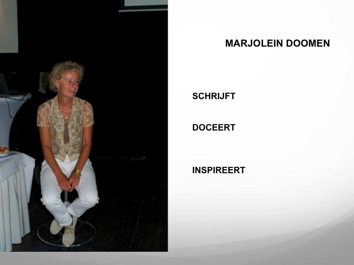 Dit ben ik, Marjolein Doomen.